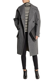 Toga Bonded wool-blend and faux leather coat