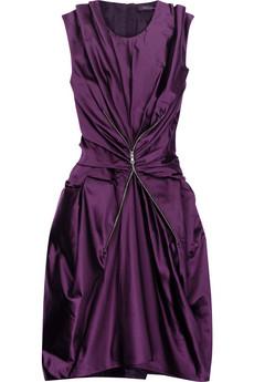 Marc JacobsDuchesse satin zip-embellished dress