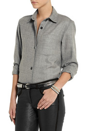 Isabel Marant Leather and silver-tone multi-strand belt