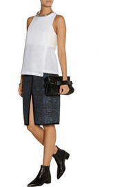 Dion Lee Layered crepe and scuba-jersey top
