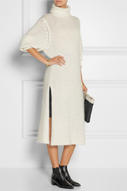 Dion Lee Open-knit turtleneck sweater dress