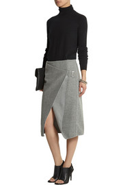 Dion Lee Wrap-effect jersey-bonded felt skirt