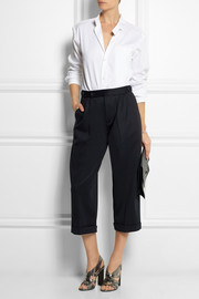 1205 Cropped stretch-scuba jersey wide-leg pants