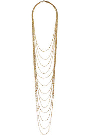 IAM by Ileana Makri Chantilly gold-plated necklace
