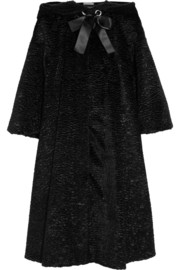 Alexander McQueen Bow-embellished faux fur coat
