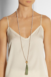 IAM by Ileana Makri Kompoloi beaded tassel necklace