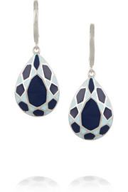 IAM by Ileana Makri Enameled silver-plated earrings