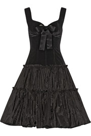 Alexander McQueen Velvet and silk-taffeta dress