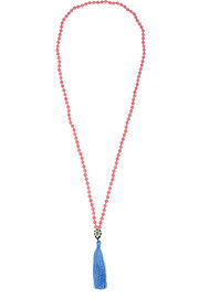 IAM by Ileana Makri Kompoli beaded tassel necklace