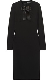 Alexander McQueen Bow-embellished jersey dress