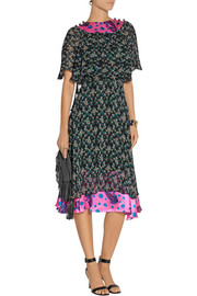 Duro Olowu Silk satin-trimmed floral-print crepe dress