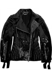 Alexander McQueen Patent-leather biker jacket