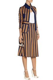 Duro Olowu Jacquard-knit wool skirt