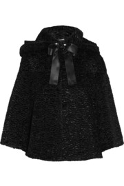 Alexander McQueen Bow-embellished faux fur jacket