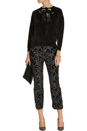 Alexander McQueen Cropped jacquard straight-leg pants