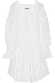 Alexander McQueen Pintucked cotton-poplin tunic
