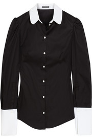 Alexander McQueen Two-tone cotton shirt