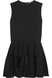 Alexander McQueen Tiered ruffled crepe top