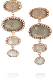Larkspur & Hawk Small Tessa rose gold-dipped topaz earrings