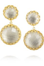 Small Olivia gold-dipped topaz earrings