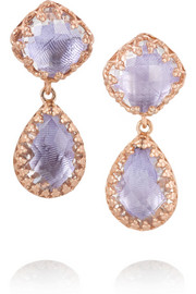 Larkspur & Hawk Jane rose gold-dipped topaz earrings