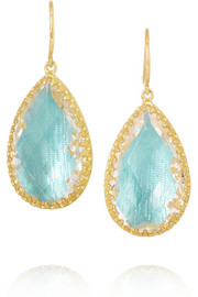 Larkspur & Hawk Sophia gold-dipped topaz earrings