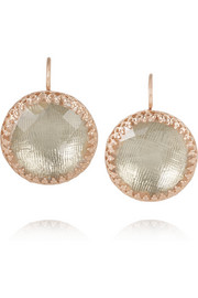 Larkspur & Hawk Olivia Button rose gold-dipped topaz earrings