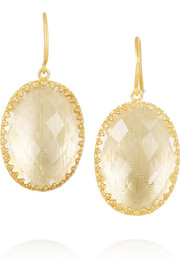 Larkspur & Hawk Small Lily gold-dipped topaz earrings
