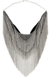 Isabel Marant Fringed silver-tone necklace