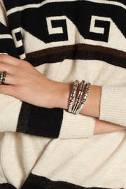 Isabel Marant Silver-tone leather bracelet