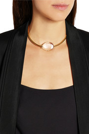 Isabel Marant Gold-plated rock crystal necklace