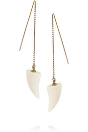Isabel Marant Gold-tone horn earrings