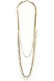 Isabel Marant Fringed bronze-tone necklace