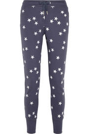 Stars cotton-blend jersey track pants