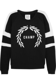 Zoe Karssen Champ cotton-blend jersey sweatshirt