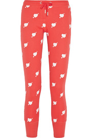 Cupid cotton-blend jersey track pants