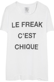 Zoe Karssen Le Freak C'est Chique cotton and modal-blend T-shirt