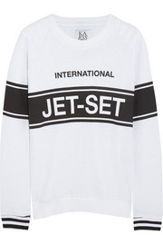 Zoe Karssen Jet-Set cotton-blend terry sweatshirt