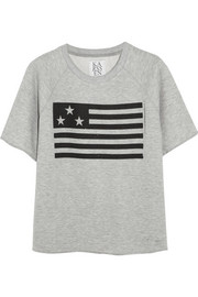 Zoe Karssen US Flag cotton-blend terry top