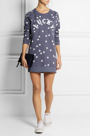 Zoe Karssen Lucky printed cotton-blend sweatshirt dress