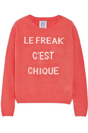 Zoe Karssen Le Freak C'est Chique wool and cashmere-blend sweater