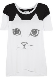 Zoe Karssen Cat cotton and modal-blend T-shirt