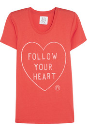 Zoe Karssen Follow Your Heart cotton and modal-blend T-shirt