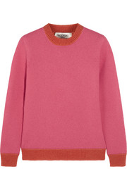 Valentino Contrast-trimmed felted wool sweater