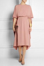 Valentino Cape-back silk dress