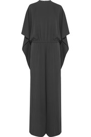 Valentino Cape-back silk jumpsuit