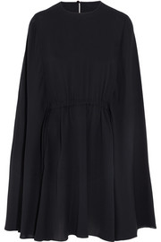Valentino Cape-style silk-crepe mini dress
