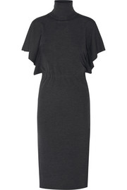 Valentino Wool turtleneck midi dress