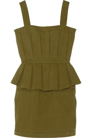 Balmain Cotton-blend gabardine mini dress