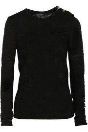 Balmain Ribbed-knit wool-blend sweater